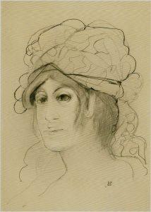 Carmassi: Anna. 1968, lapis, cm. 50x35