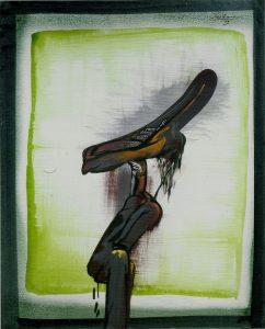 Orellana: La boca abierta. 1973, olio su tela, cm. 100x80