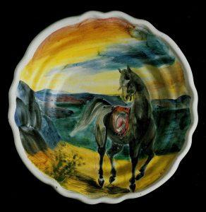 Sassu, Cavallo nero sul lago