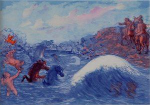 Sassu, I cavalli di Poseidone
