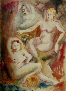 Sassu, Le nude e la ruffiana