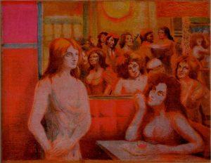 Sassu, Maison Tellier, Le tre rosse
