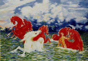 Aligi Sassu, Cavalli rossi