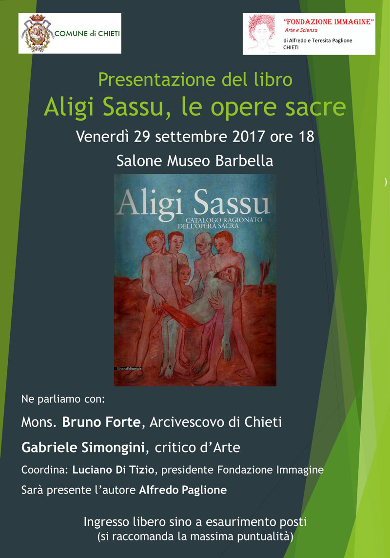 locandina presentazione libro Sassu, opere sacre