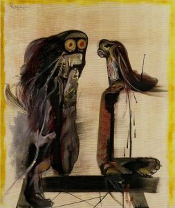 Orellana, Los ojos, 1974, olio su tela 120x100