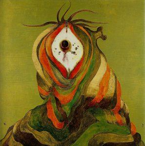 Arturo Carmassi Metamorfosi 1969 olio su tela 100x100