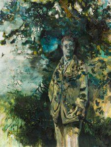 Robert Carroll Uomo sotto l'albero 125x94