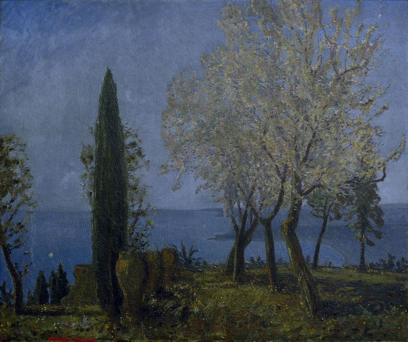 Michele Cascella, Paesaggio abruzzese, 1930, olio su tela, cm 126x150
