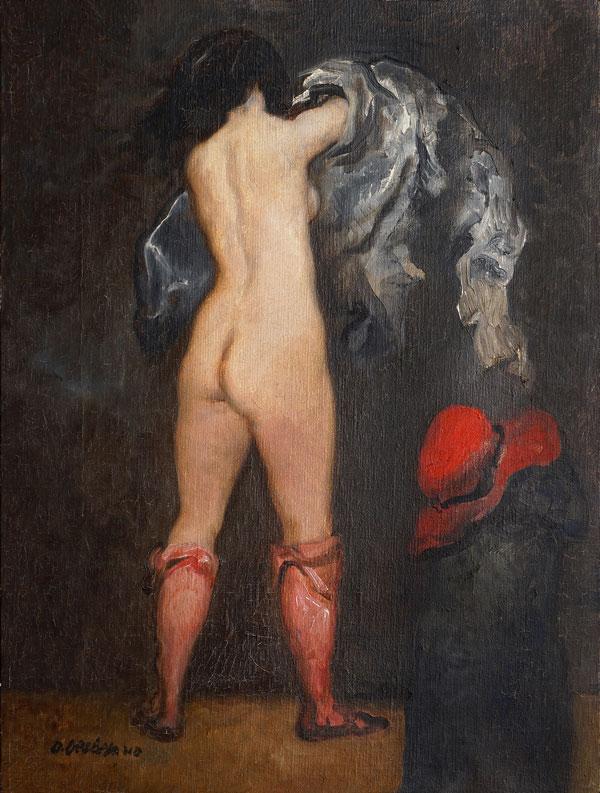 Armando De Stefano, Nudo, 1983, olio su tela, cm 61x50