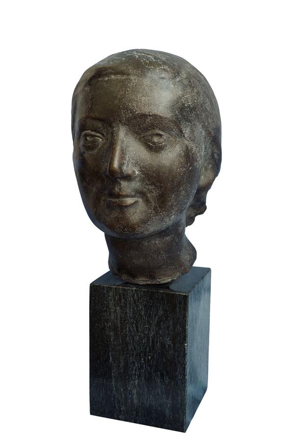 Marino Marini, Testa di donna, 1937, bronzo, cm 26x17x20