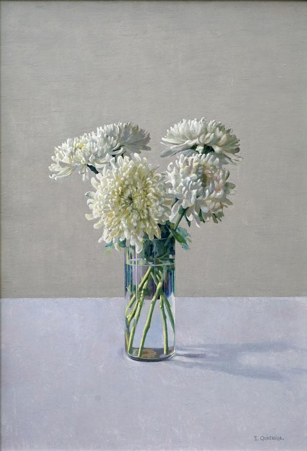 Isabel Quitanilla, Bodegòn con flores, 1992, olio su tela, cm 50x70