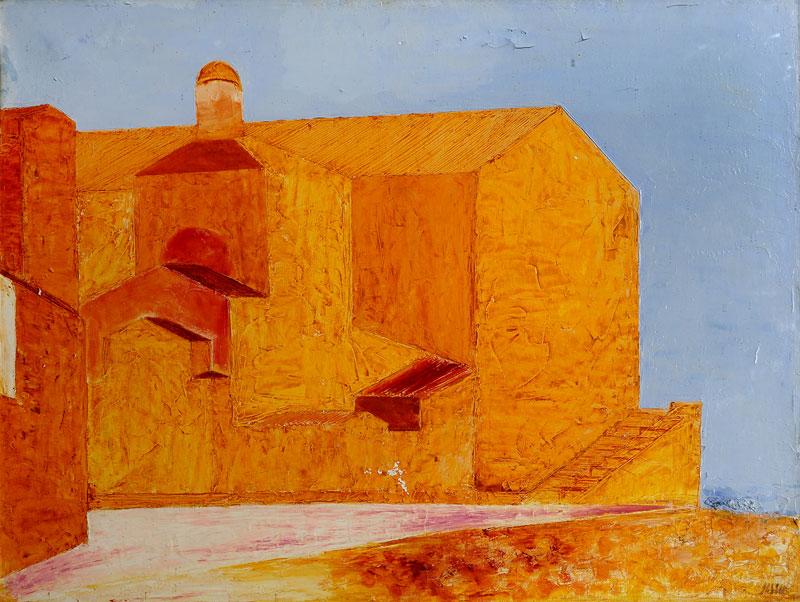 La chiesa di Alcudia, 1964, olio su tela, cm 62x82