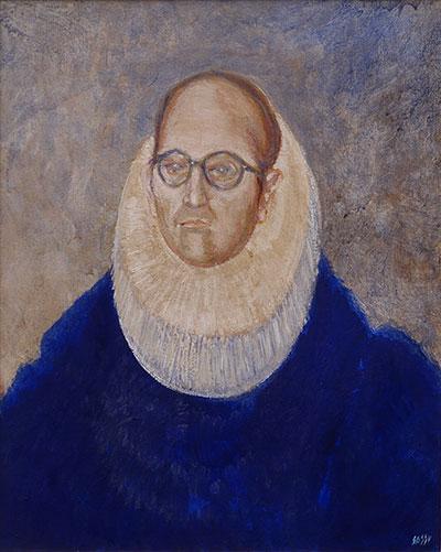 El Duque de Tornareccio, 1971, olio su tela, cm 55x46
