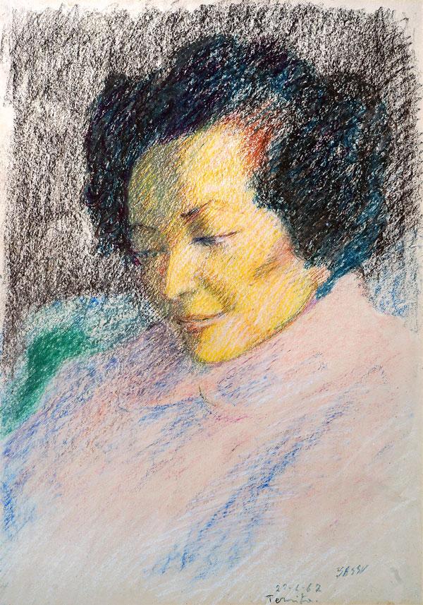 Teresita, 1967, pastelli su carta, cm 50x35