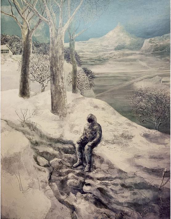 Carroll, Sisifo Ecologo, 1973, olio su tela, 161x130