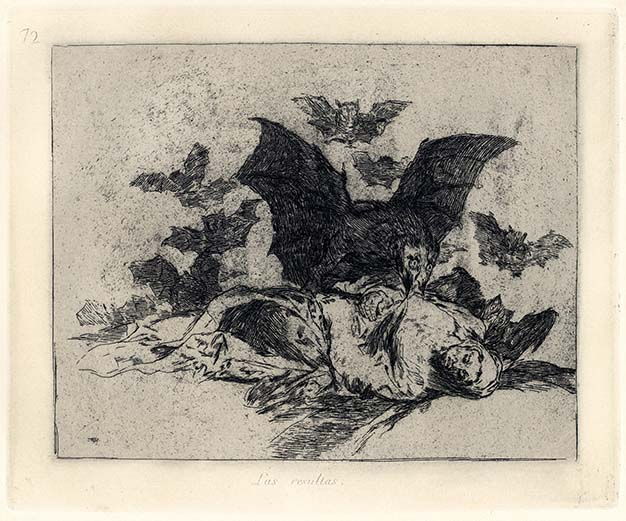 Francisco Goya, Las resultas, 1814-1815, acquaforte, cm 15,5x20