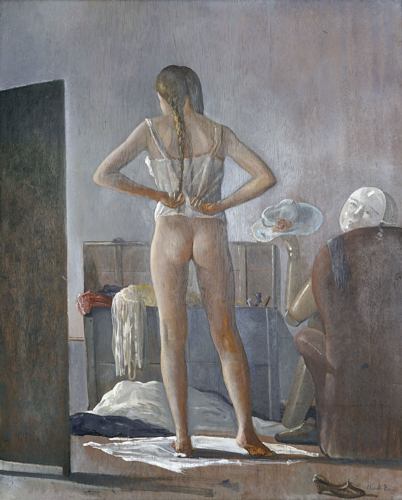 Claudio Bonichi, Giochi in soffitta, 1986, olio su tavola, cm 99x80